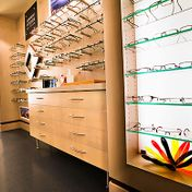 Eyeglasses on Shelves