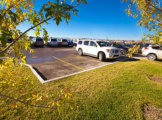 Westside Recreation Parking lot and Vehicles